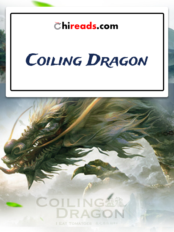 """Image de présentation du roman """"Coiling Dragon"""" aussi nommé """"Panlong"""" sur l'image on peut apercevoir un dragon volez au delà des nuages"""
